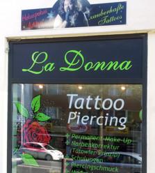 la donna tattoo piercing startseite. Black Bedroom Furniture Sets. Home Design Ideas